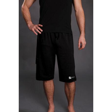 Jóga sort, yoga shorts, férfiaknak Yogin OM Fekete