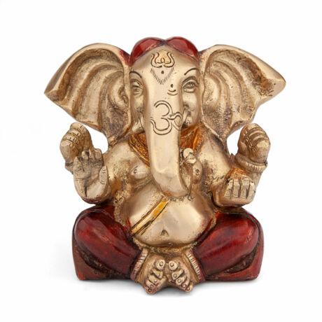 Ganesh brass statue, colored 12cm - Bodhi