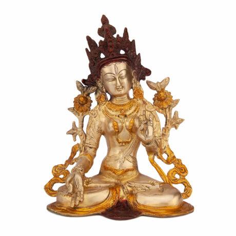 Golden Tara brass statue 23cm - Bodhi