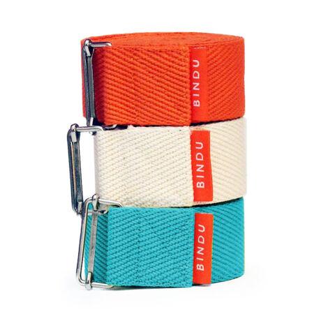 jógaheveder, yoga strap, színes XL Bindu