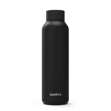 Solid Jet black fémkulacs 630ml - Quokka