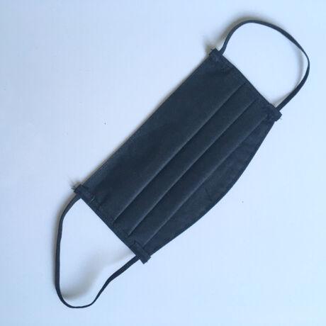 Textil, mosható, 2 rétegű szájmaszk - Fekete
