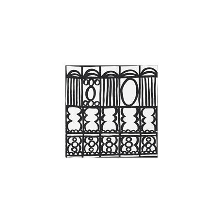 Meditációs ülőpárna huzat (kerek) - Bindu (Mintás)