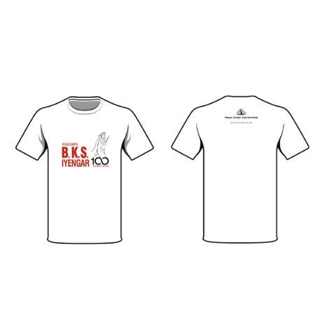 Unisex White Yoga T-shirt