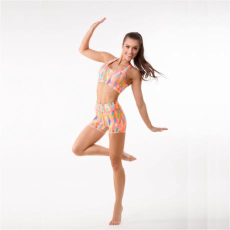 Jóga sort, yoga shorts, Colorfull