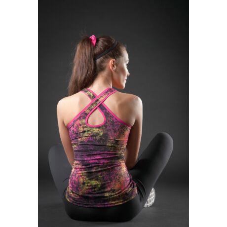Pink-Black Lili-Cosmos Yoga Tanktop