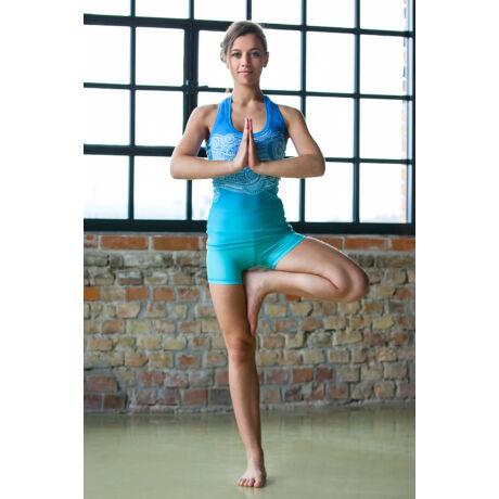 Jóga sort, yoga shorts, Blue Fantasy