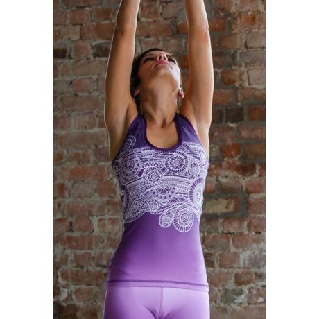 Jóga trikó , yoga tanktop,Purple Fantasy