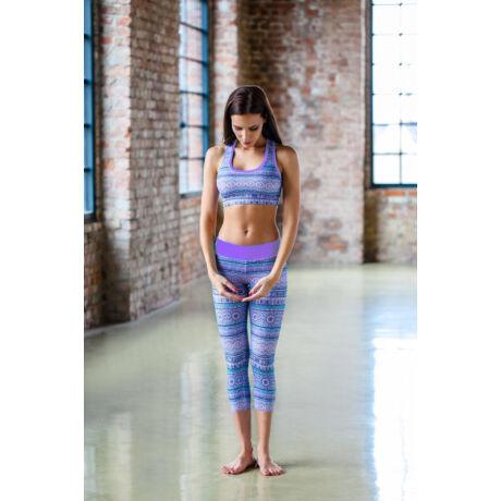 Purple Mandala Yoga Capry – Indi-Go