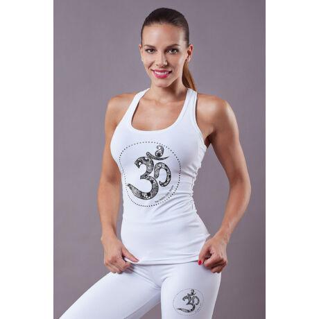 White OM Yoga Top
