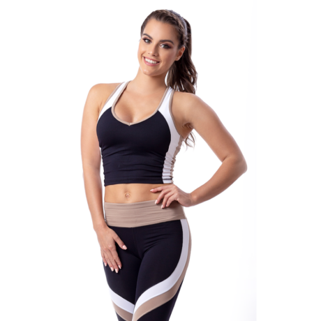 Sporty fitness capri bézs – Indi-Go