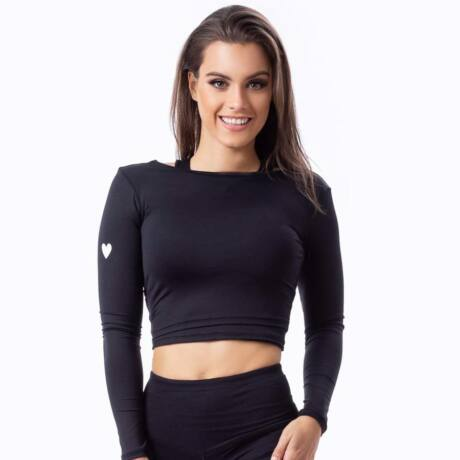 Yoga Secret long-sleeved black – Indi-Go