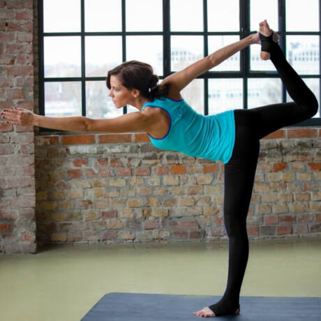 Jóga nadrág, yoga pants,  talpas fekete