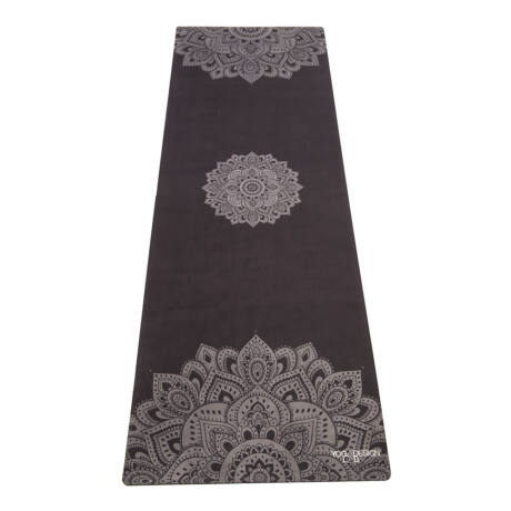 The Travel Mat - Mandala Black / YogaDesignLab