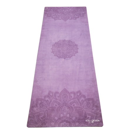 The Travel Mat - Mandala Purple / YogaDesignLab