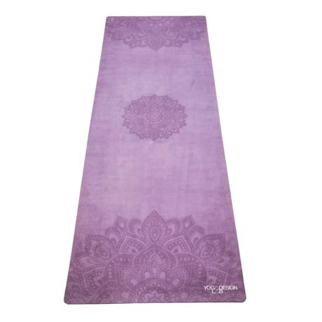 Combo Yoga Mat - Mandala Purple / YogaDesignLab