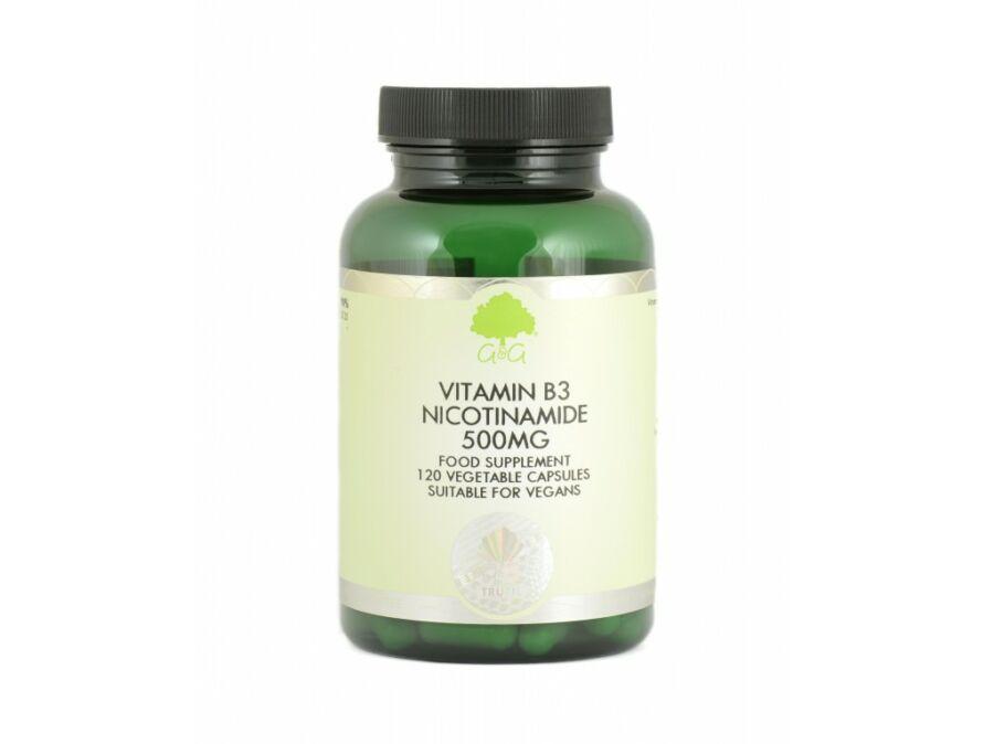 B3-vitamin (niacinamid) 500mg 120 kapszula – G&G