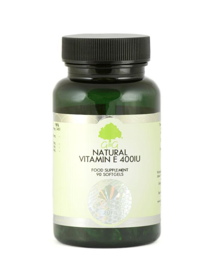 E-vitamin 400ne 90 lágyzselatin kapszula – G&G